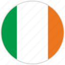 circular, country, flag, ireland, national, national flag, rounded