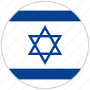 circular, country, flag, israel, national, national flag, rounded icon