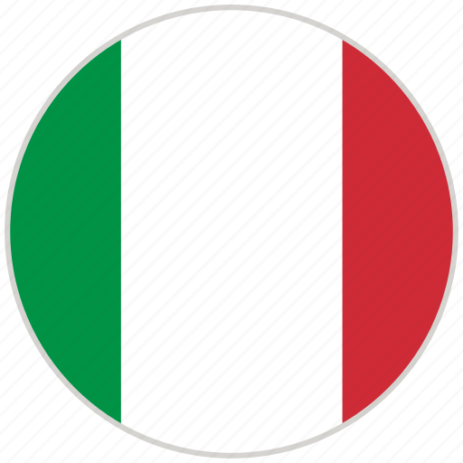 Circular, country, flag, italy, national, national flag, rounded icon - Download on Iconfinder