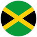 jamaica, rounded, circular, national, country, national flag, flag