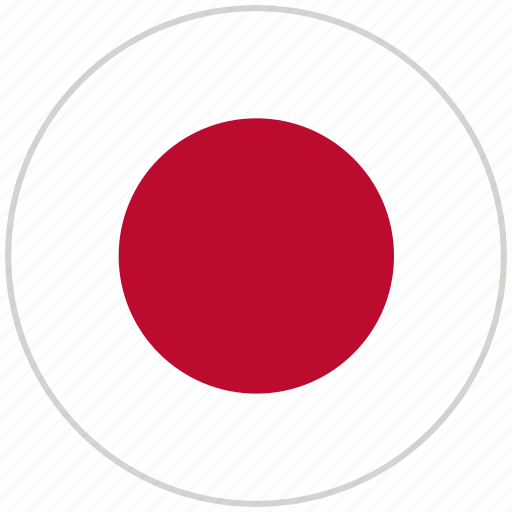 Circular, country, flag, japan, national, national flag, rounded icon - Download on Iconfinder
