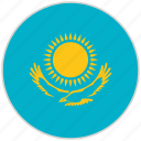 circular, country, flag, kazakhstan, national, national flag, rounded