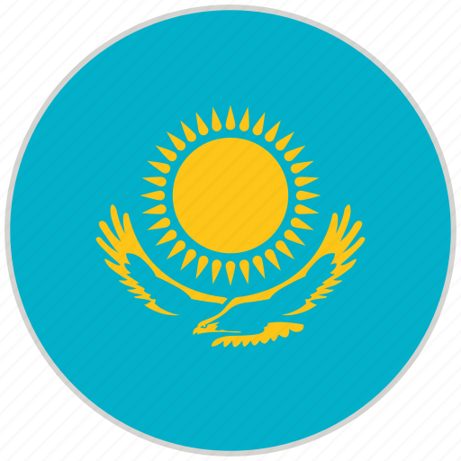 Circular, country, flag, kazakhstan, national, national flag, rounded icon - Download on Iconfinder
