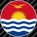 circular, country, flag, kiribati, national, national flag, rounded