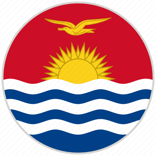 circular, country, flag, kiribati, national, national flag, rounded icon