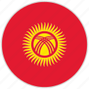 circular, country, flag, kyrgyzstan, national, national flag, rounded icon