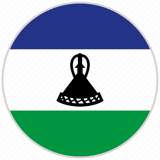 Circular, country, flag, lesotho, national, national flag, rounded icon - Download on Iconfinder