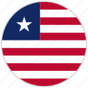 circular, country, flag, liberia, national, national flag, rounded