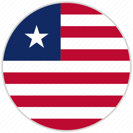 Circular, country, flag, liberia, national, national flag, rounded icon - Download on Iconfinder
