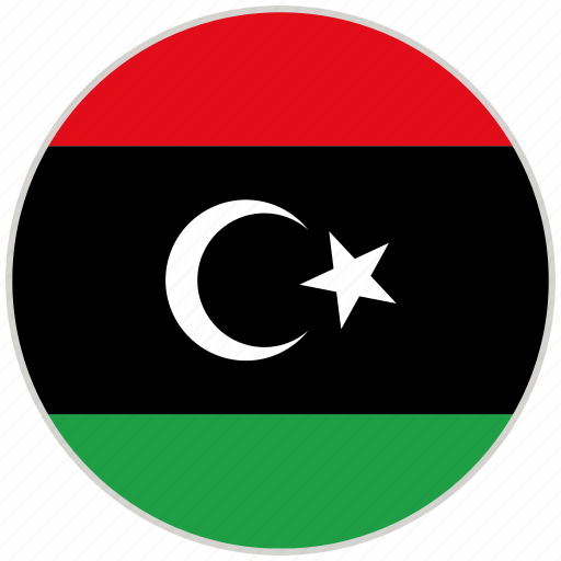Circular, country, flag, libya, national, national flag, rounded icon - Download on Iconfinder