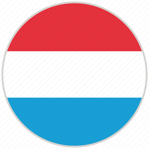 Circular, country, flag, luxembourg, national, national flag, rounded icon - Download on Iconfinder