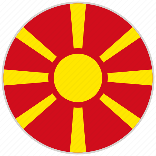 Circular, country, flag, macedonia, national, national flag, rounded icon - Download on Iconfinder