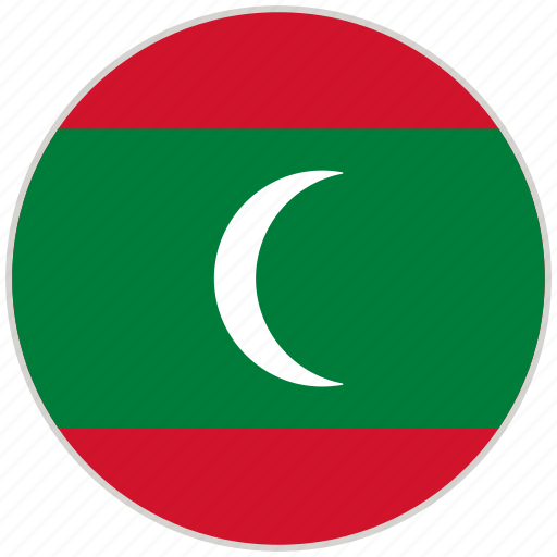 Circular, country, flag, maldives, national, national flag, rounded icon - Download on Iconfinder