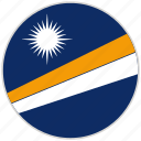 circular, country, flag, marshall islands, national, national flag, rounded