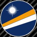 circular, country, flag, marshall islands, national, national flag, rounded