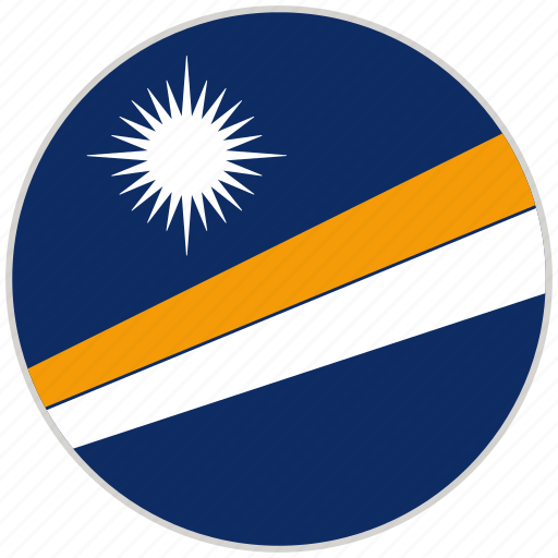 Circular, country, flag, marshall islands, national, national flag, rounded icon - Download on Iconfinder