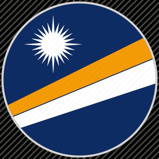 circular, country, flag, marshall islands, national, national flag, rounded icon