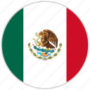 circular, country, flag, mexico, national, national flag, rounded icon