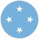 circular, country, flag, micronesia, national, national flag, rounded