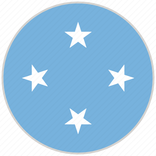 Circular, country, flag, micronesia, national, national flag, rounded icon - Download on Iconfinder