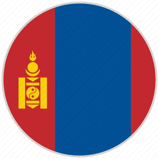 Circular, country, flag, mongolia, national, national flag, rounded icon - Download on Iconfinder