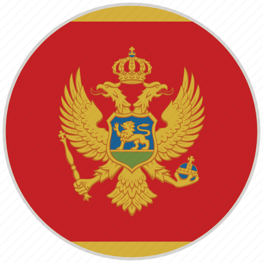 circular, country, flag, montenegro, national, national flag, rounded icon