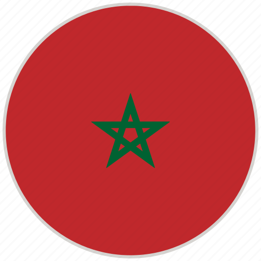 Circular, country, flag, morocco, national, national flag, rounded icon - Download on Iconfinder