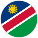 circular, country, flag, namibia, national, national flag, rounded