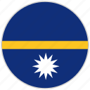 circular, country, flag, national, national flag, nauru, rounded