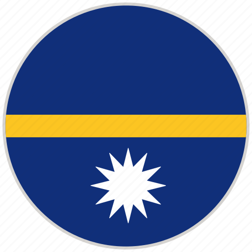 Circular, country, flag, national, national flag, nauru, rounded icon - Download on Iconfinder