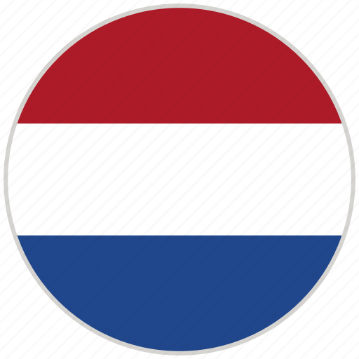 circular, country, flag, national, national flag, netherlands, rounded icon