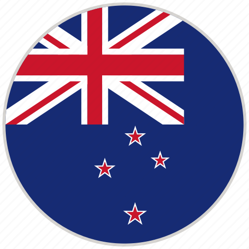 New zealand, rounded, circular, national, country, national flag, flag icon  - Download