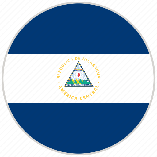 Circular, country, flag, national, national flag, nicaragua, rounded icon - Download on Iconfinder