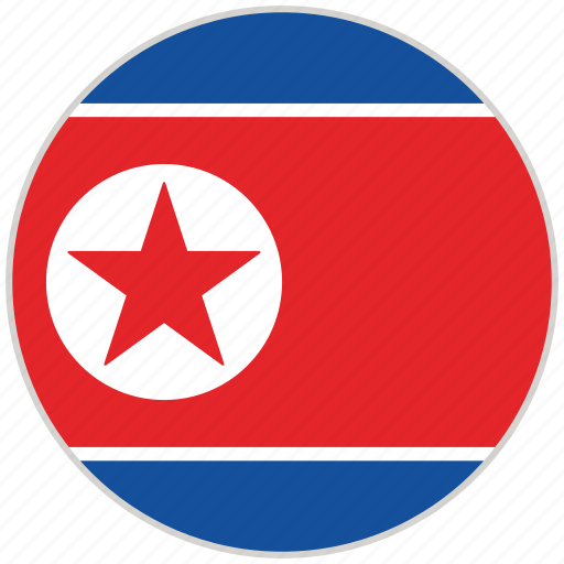 Circular, country, flag, national, national flag, north korea, rounded icon - Download on Iconfinder