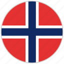 circular, country, flag, national, national flag, norway, rounded icon