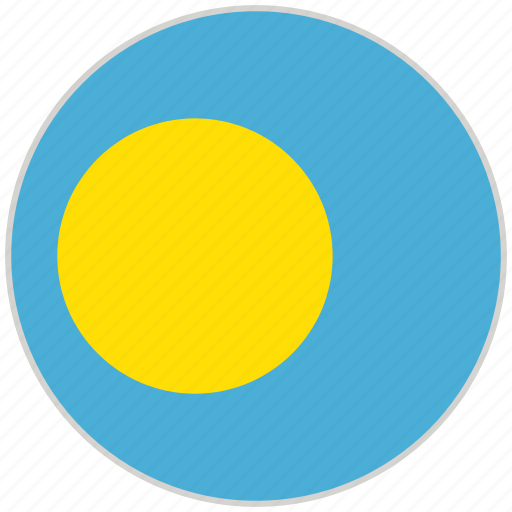 Circular, country, flag, national, national flag, palau, rounded icon - Download on Iconfinder