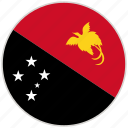 circular, country, flag, national, national flag, papua new guinea, rounded
