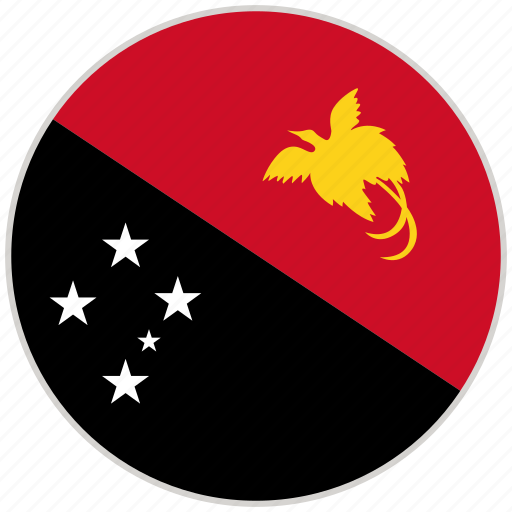 Circular, country, flag, national, national flag, papua new guinea, rounded icon - Download on Iconfinder