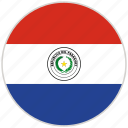 circular, country, flag, national, national flag, paraguay, rounded
