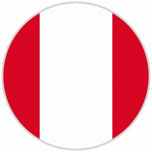 circular, country, flag, national, national flag, peru, rounded icon