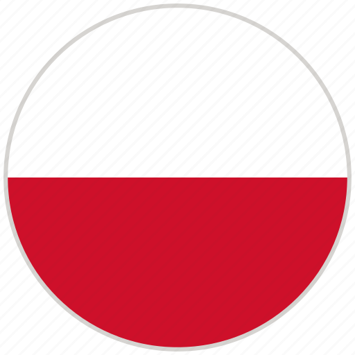 circular, country, flag, national, national flag, poland, rounded icon