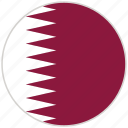 circular, country, flag, national, national flag, quatar, rounded