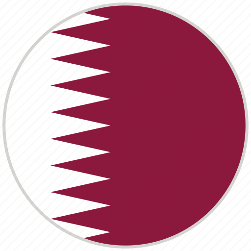Circular, country, flag, national, national flag, quatar, rounded icon - Download on Iconfinder