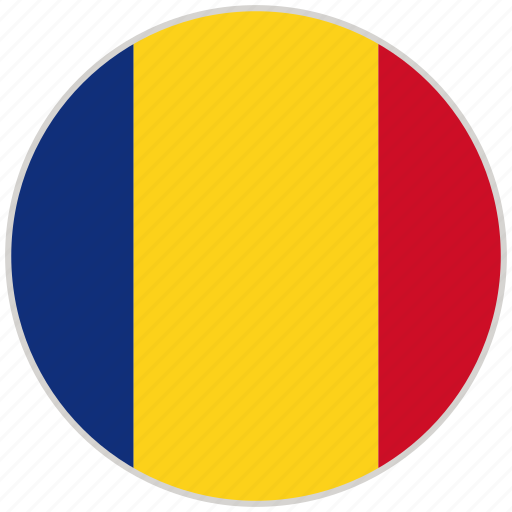 circular, country, flag, national, national flag, romania, rounded icon