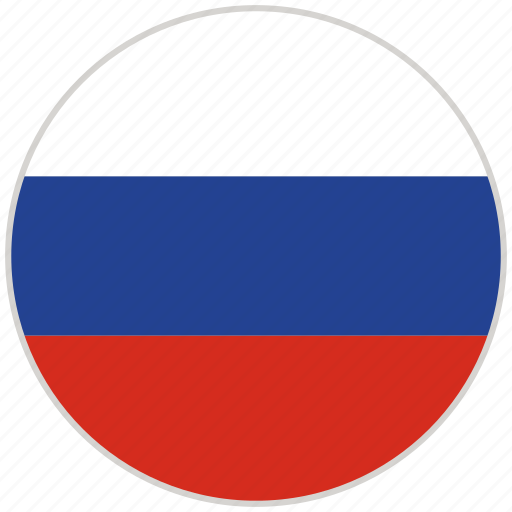 circular, country, flag, national, national flag, rounded, russia icon