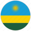 circular, country, flag, national, national flag, rounded, rwanda