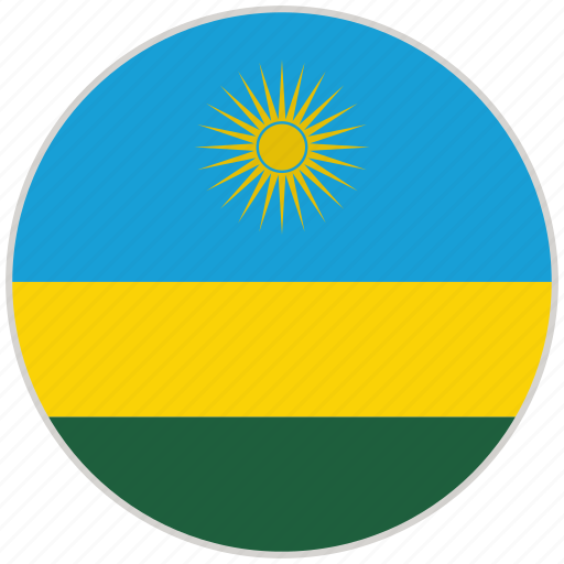 circular, country, flag, national, national flag, rounded, rwanda icon