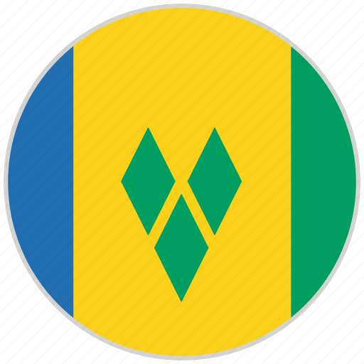 Circular, country, flag, national, national flag, rounded, saint vincent and grenadines icon - Download on Iconfinder