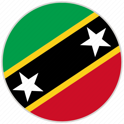 Circular, country, flag, national, national flag, rounded, saints kitts and nevis icon - Download on Iconfinder