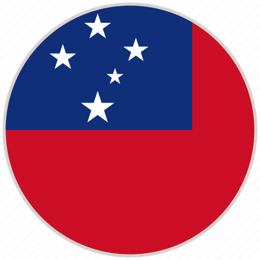Circular, country, flag, national, national flag, rounded, samoa icon - Download on Iconfinder